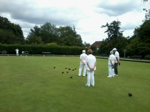 Competition taking place in whites.