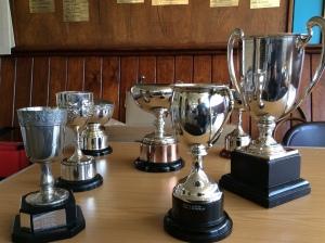 Winners' trophies!