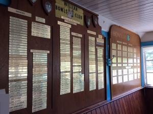 Club results board